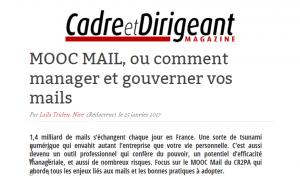 Mooc Cadre et Dirigeant Magazine