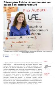 Bérengère Patria récompensée au salon des entrepreneurs
