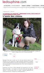 Le Dauphiné, Bérengère Patria